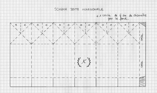 Schema boite hexagonale Champs de coquelicots